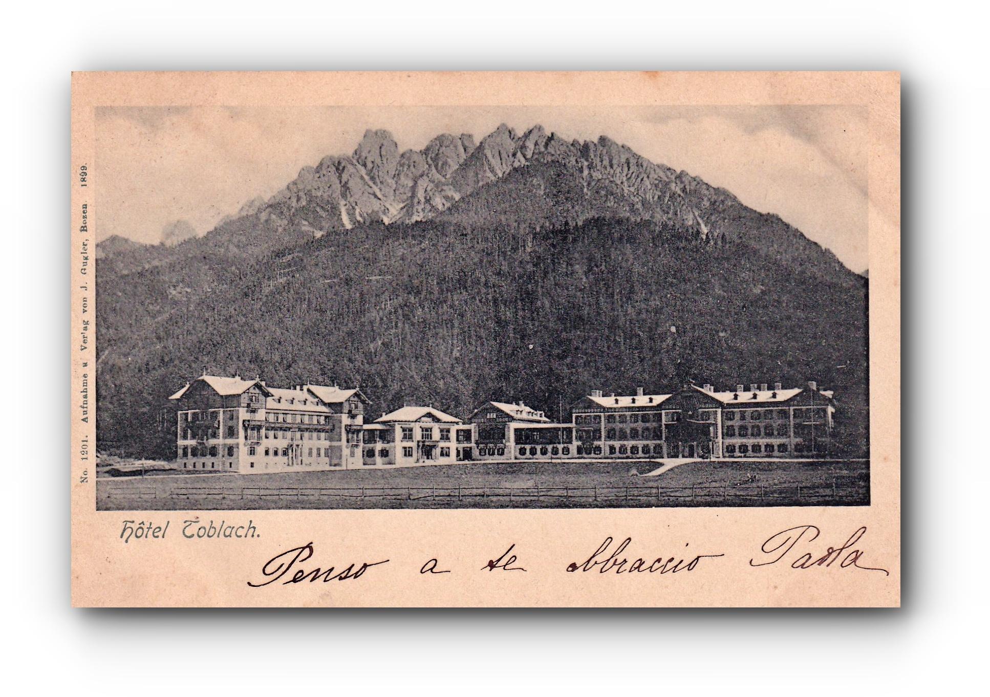 Hotel Toblach - 25.08.1900