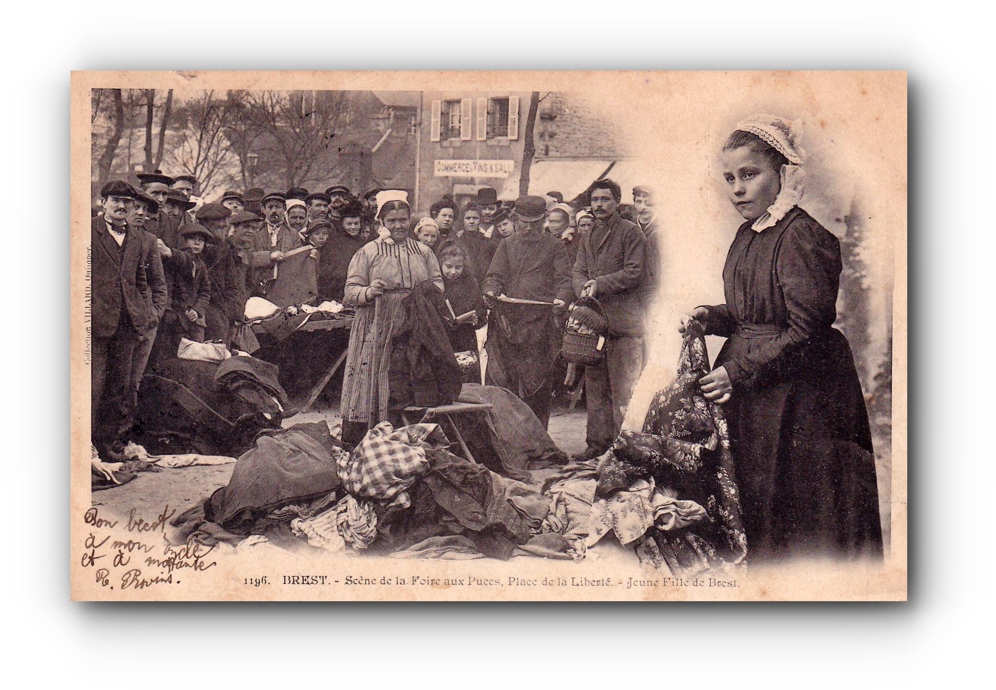 BREST - Flohmarkt - Marché aux puces - Flea market - 18.03.1904