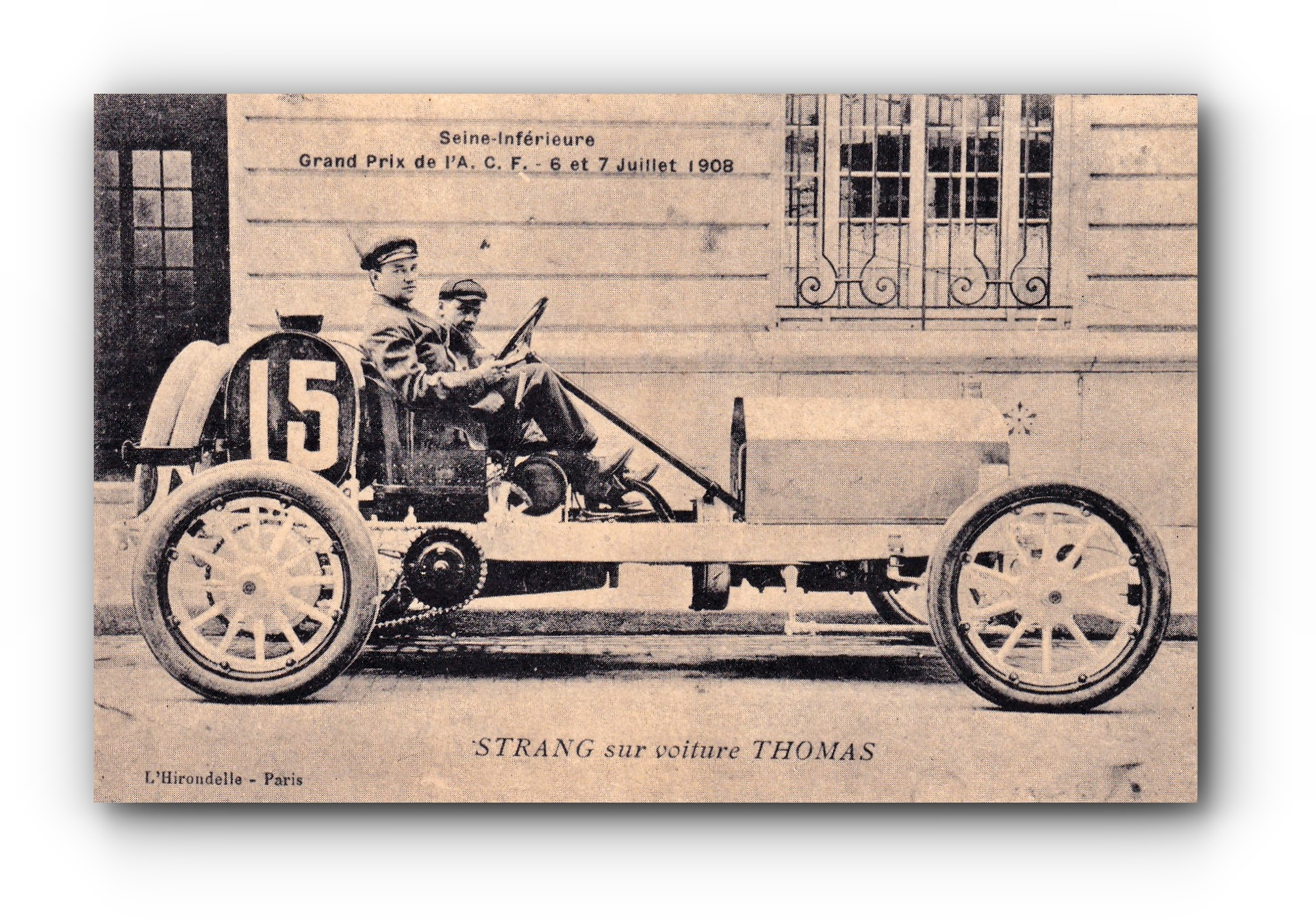 STRANG in einem Thomas Auto - 1908 - STRANG sur voiture Thomas - STRANG in a Thomas car