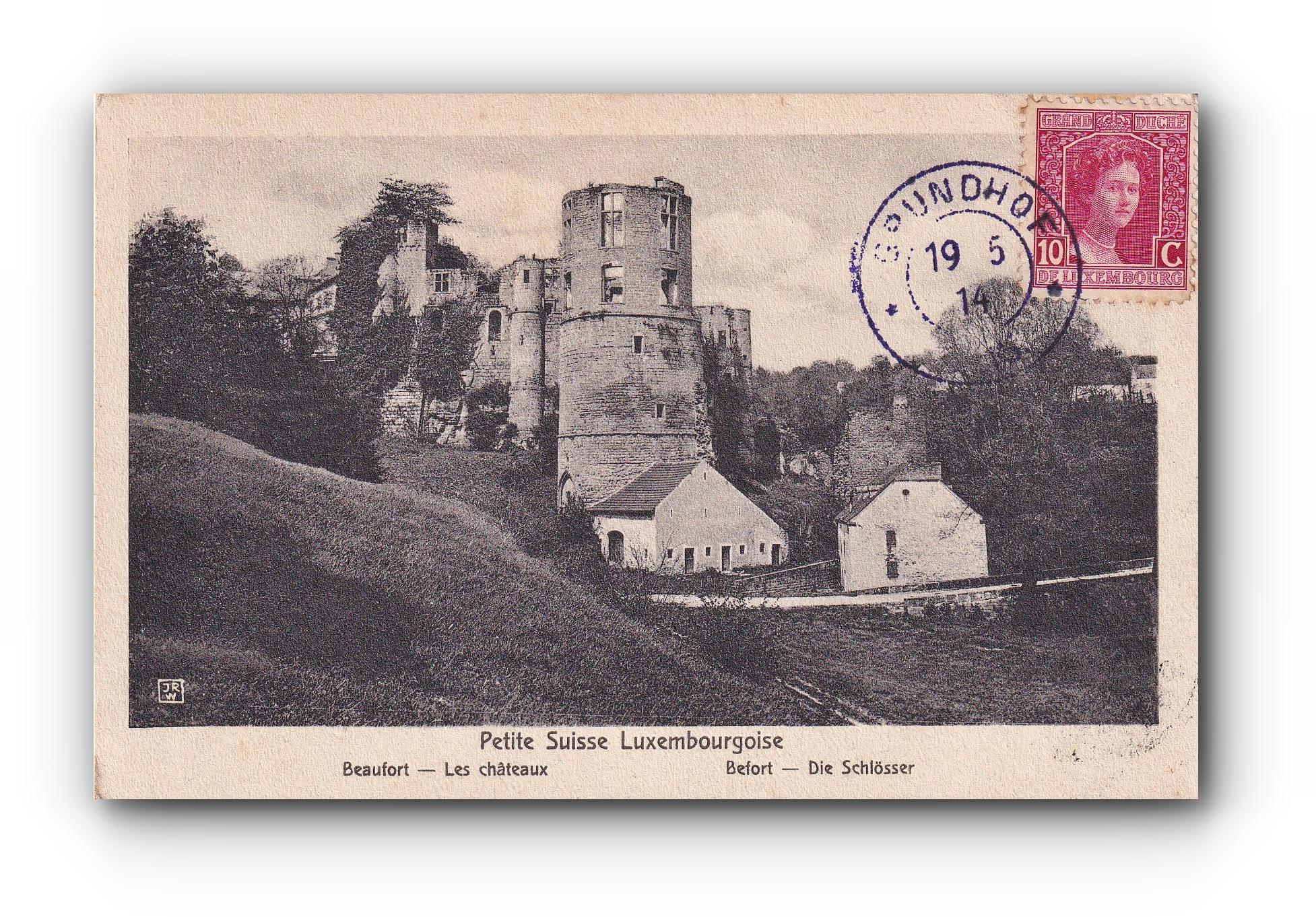 "La "" Petite Suisse "" Luxembourgeoise -19.05.1914 - Luxemburgs ""kleine Schweiz"" - Luxembourgs "" little Switzerland"