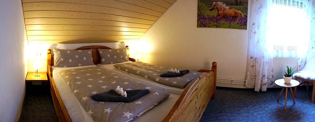 Müllerleile-Hof FeWo Pferdewiese, zweites Schlafzimmer