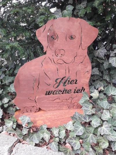 Edelrost Gartendeko Hund