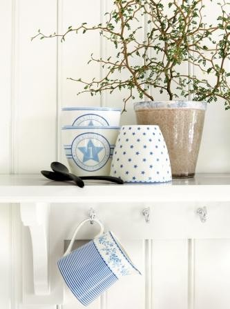 Latte cups blau-weiß