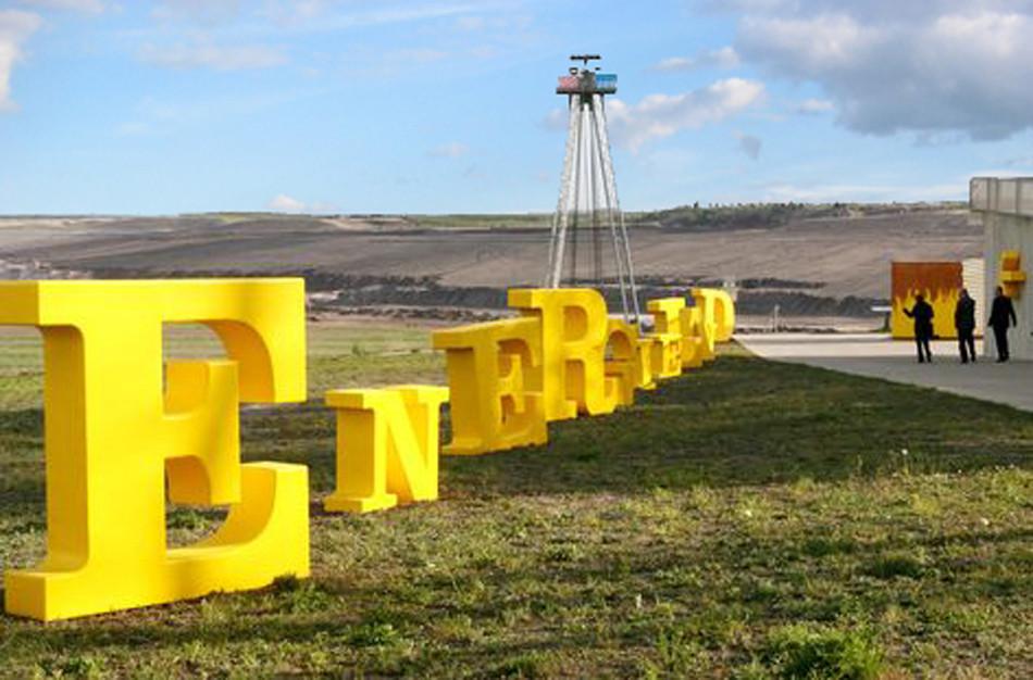 Gelbe Buchstaben als Leitsystem