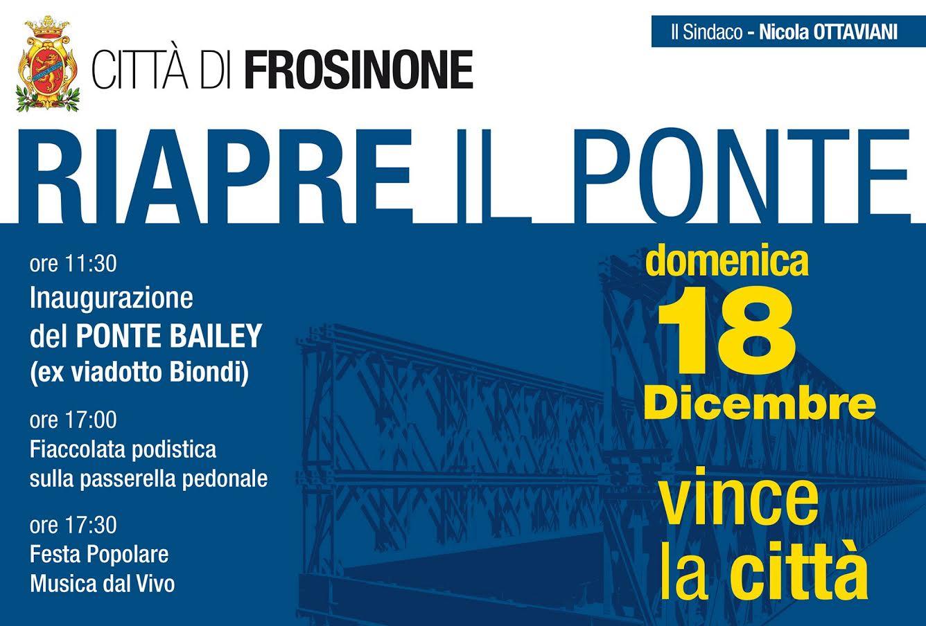 Impresa In Un Giorno Frosinone il ponte riapre. ottaviani festeggia - frosinone italia