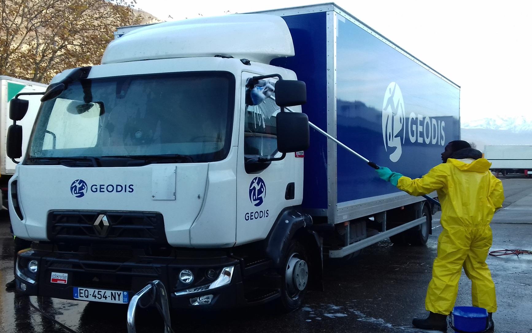 Nettoyage de camions