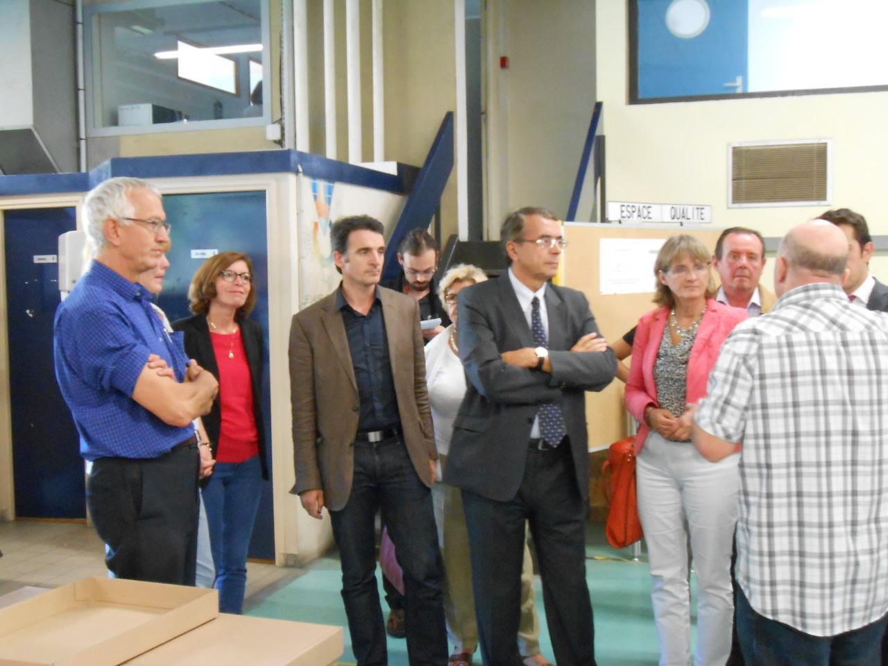 Visite de L'Atelier SIIS par Mr Jean Jack Queyranne