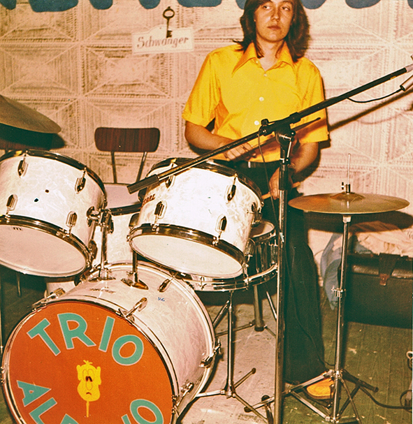 1973 als Drummer