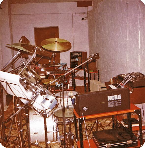 Mein Set 1981 im Proberaum