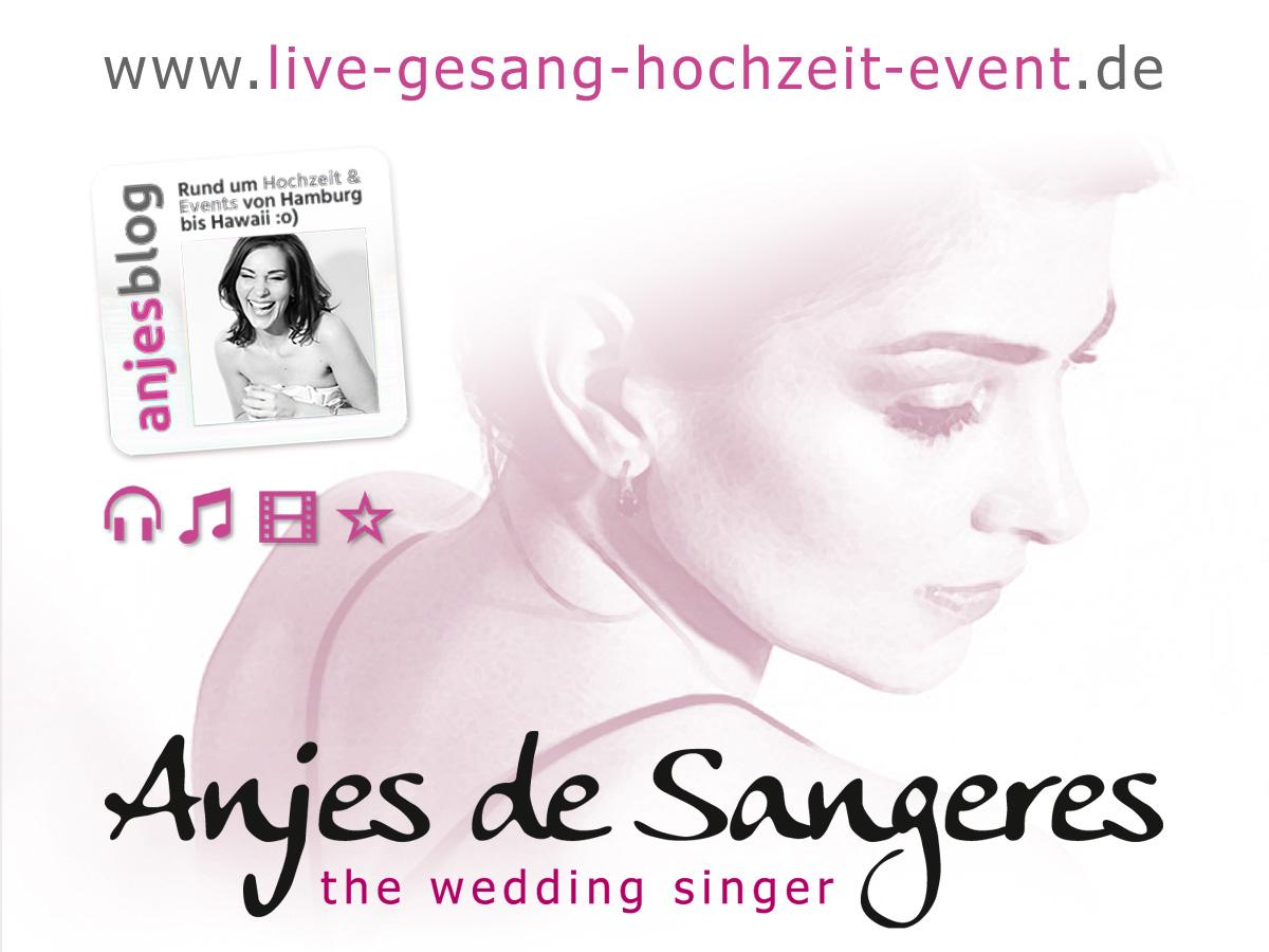 Grafik: Responsive Webdesign der Hochzeitssängerin Anjes de Sangeres aus Hamburg