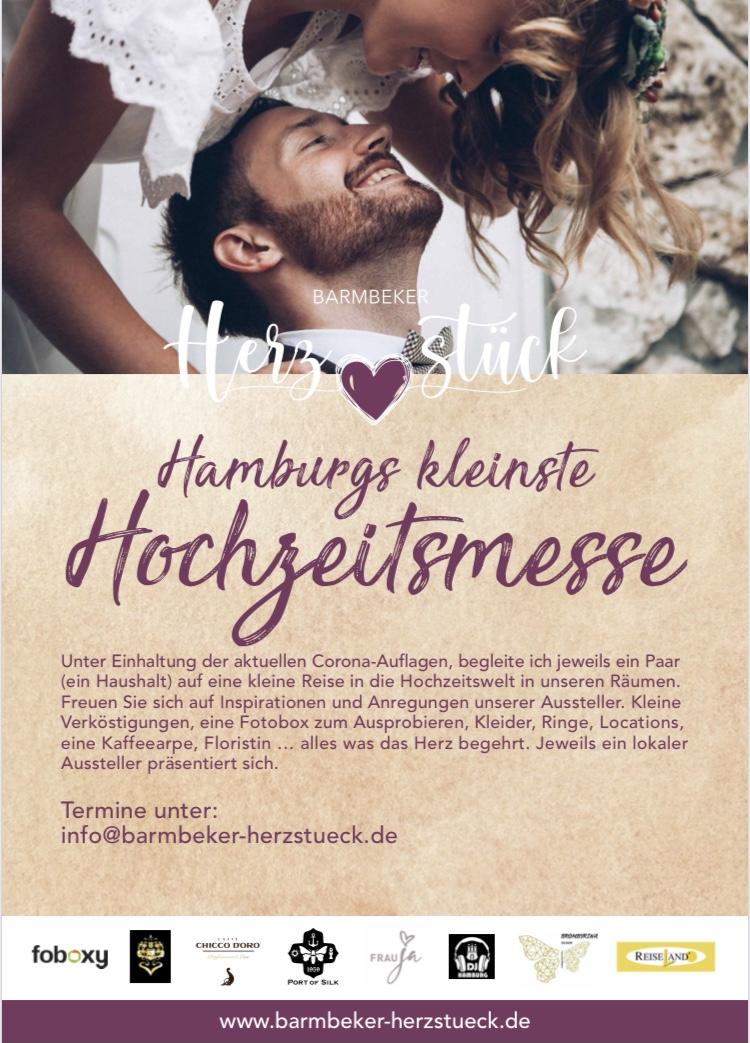 """Zu Gast auf """"Hamburgs kleinster, Corona-konformen Hochzeitsmesse"""""""