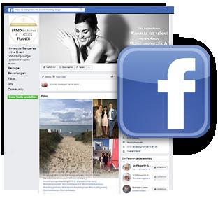 Webscreen Hochzeitssängerin aus Hamburg auf Facebook