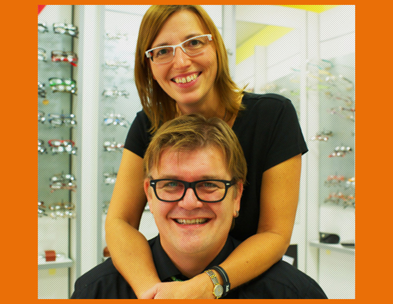 Die Augenoptikermeister Erna Neuf und Martin Wörner