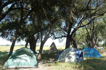 Zelten im Okavango-Delta