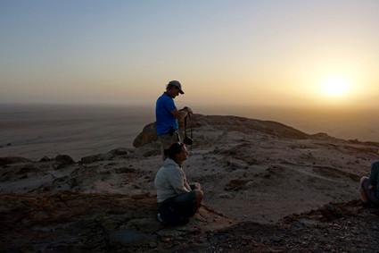 Aussichtspunkt zum Sonnenuntergang