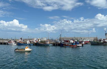 im Hafen von Lüderitz