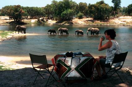 Camping im Zambezi Nationalpark