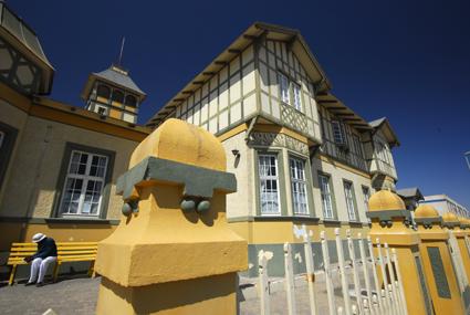 Anfang 20. Jahrhundert: Woermannhaus in Swakopmund