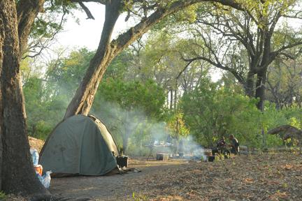 unser Camp am Okavango