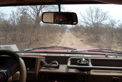 unterwegs im Mahango Game Reserve