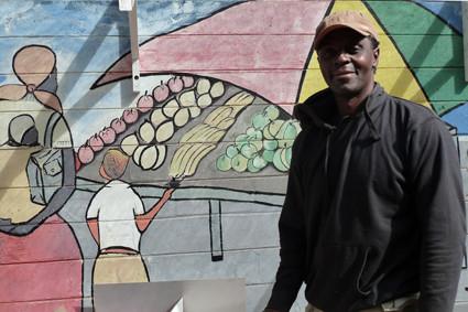 Künstler in der Fußgängerzone