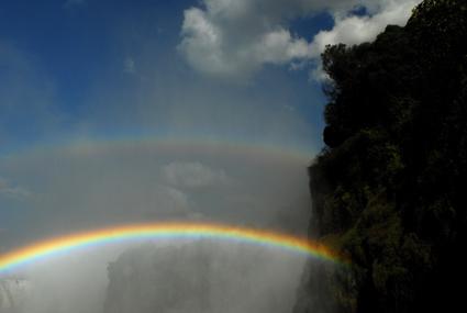 Regenbogen über den Fällen