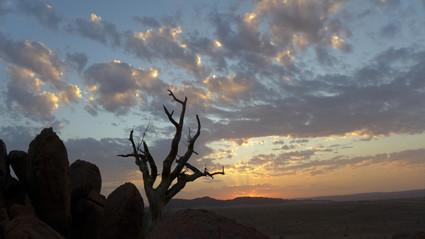 Sonnenuntergang am Desert Camp