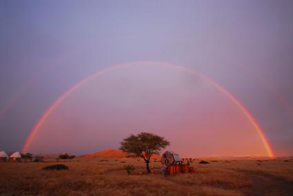 Regenbogen im Tsondab Valley Scenic Reserve