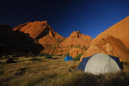 Campen an der Spitzkoppe