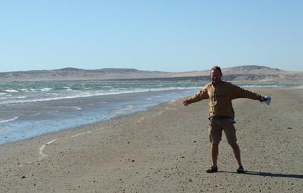 starke Brise am Achat-Strand