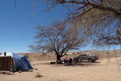 Zelten in der Namib