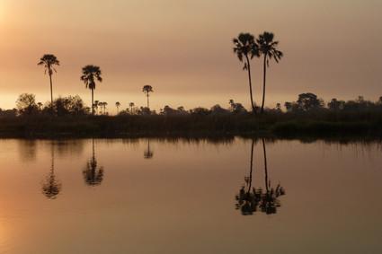 Sonnenuntergrang im Delta