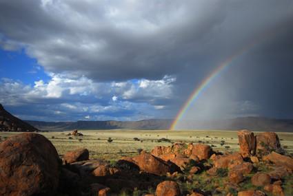 Regenbogen in Tiras