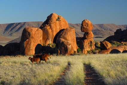 Felsformationen auf Farm Tiras