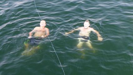 Mitten im See darf man baden