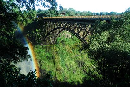 Die berühmte Zambezi-Brücke