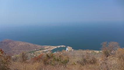 Blick über den See von den Kariba Heights aus
