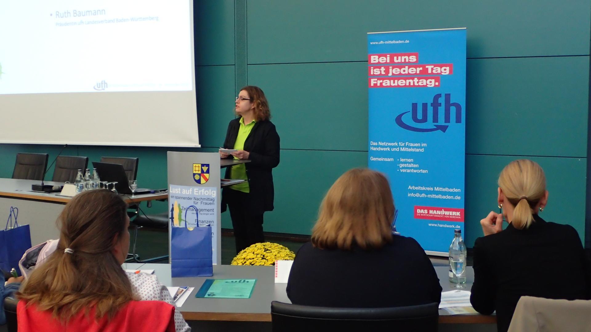 09-18 Begrüßung Ruth Baumann, Präsidentin ufh Landesverband BW