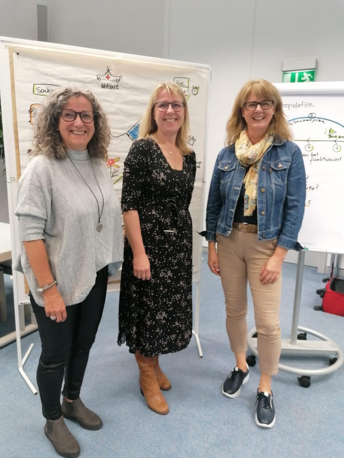 v.li. Gabriele Heinzelmann, Sonja Schulz, Nicole Kalmbacher