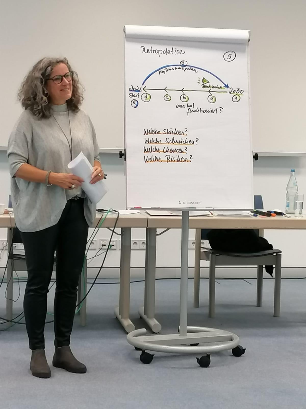Moderation und Workshopleitung Frau Gabriele Heinzelmann