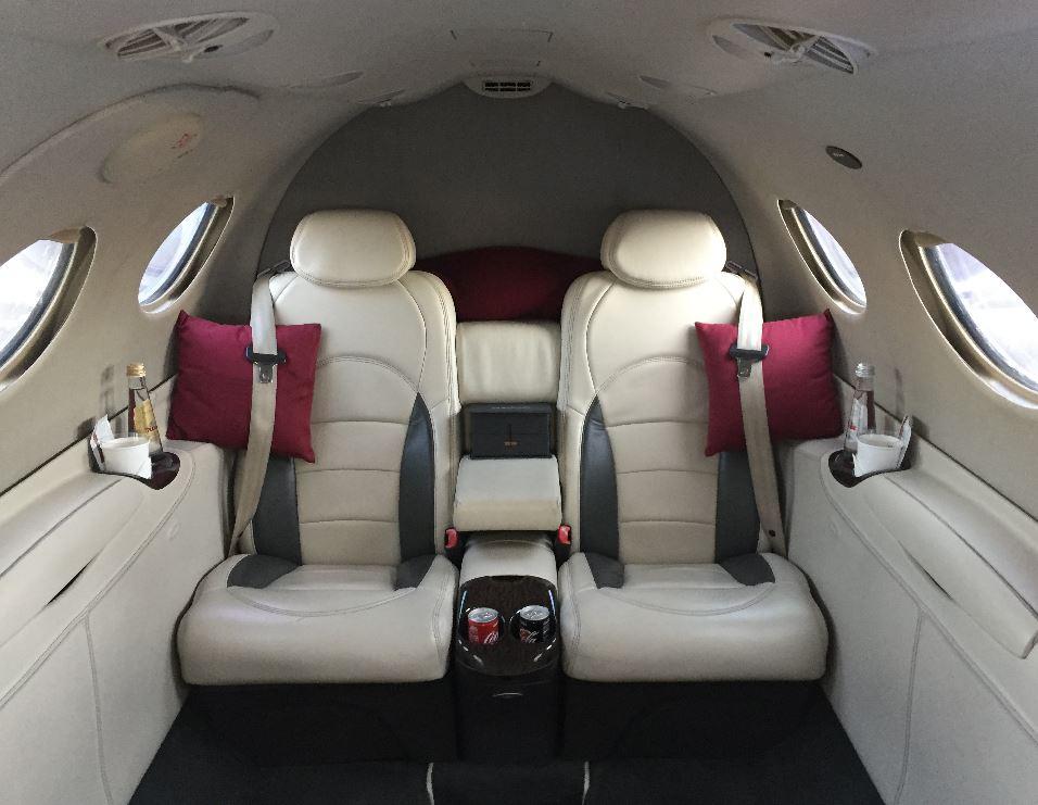 Cabine du Cessna Citation Mustang