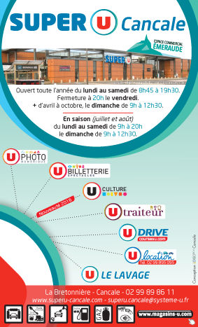 Annonce publicitaire Super U Cancale - Logo&Co Communication Cancale