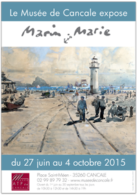 Affiche exposition Marin Marie