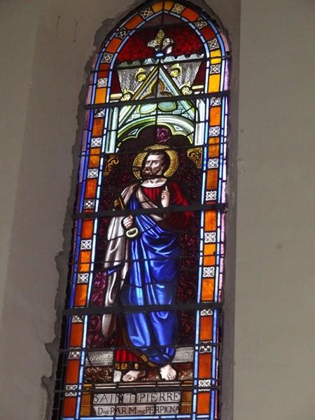 Vitrail de saint Pierre