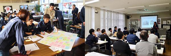 2017.10-12 「マルト長谷川工作所 社内商品開発ワークショップ」新潟県三条市にあるマルト長谷川工作所の社員が考える新商品開発ワークショップを 弊社が運営いたしました。ワークショップの様子は三条工業会の皆様にも公開され、 計3回のワークショップで300を超えるアイデアが提案練り出されました。