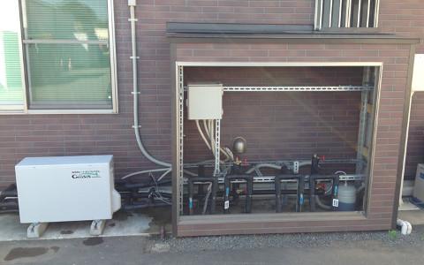 弊社に導入した、地中熱利用冷暖房システム