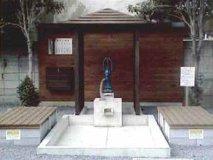 桶川市に寄贈した防災井戸 (中山道ポケットパーク内)