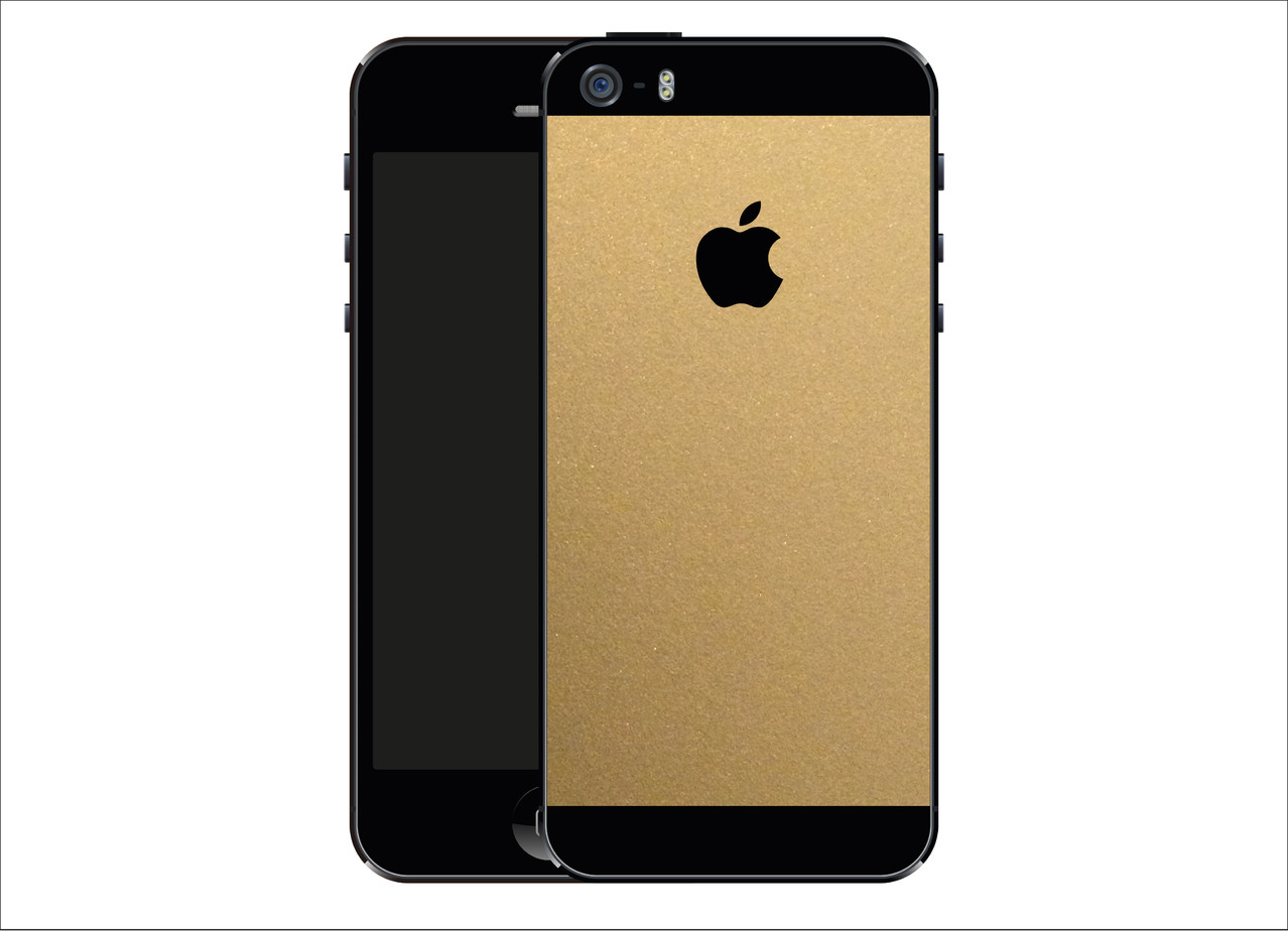 iphone 5s gold matt folie carbon folien. Black Bedroom Furniture Sets. Home Design Ideas