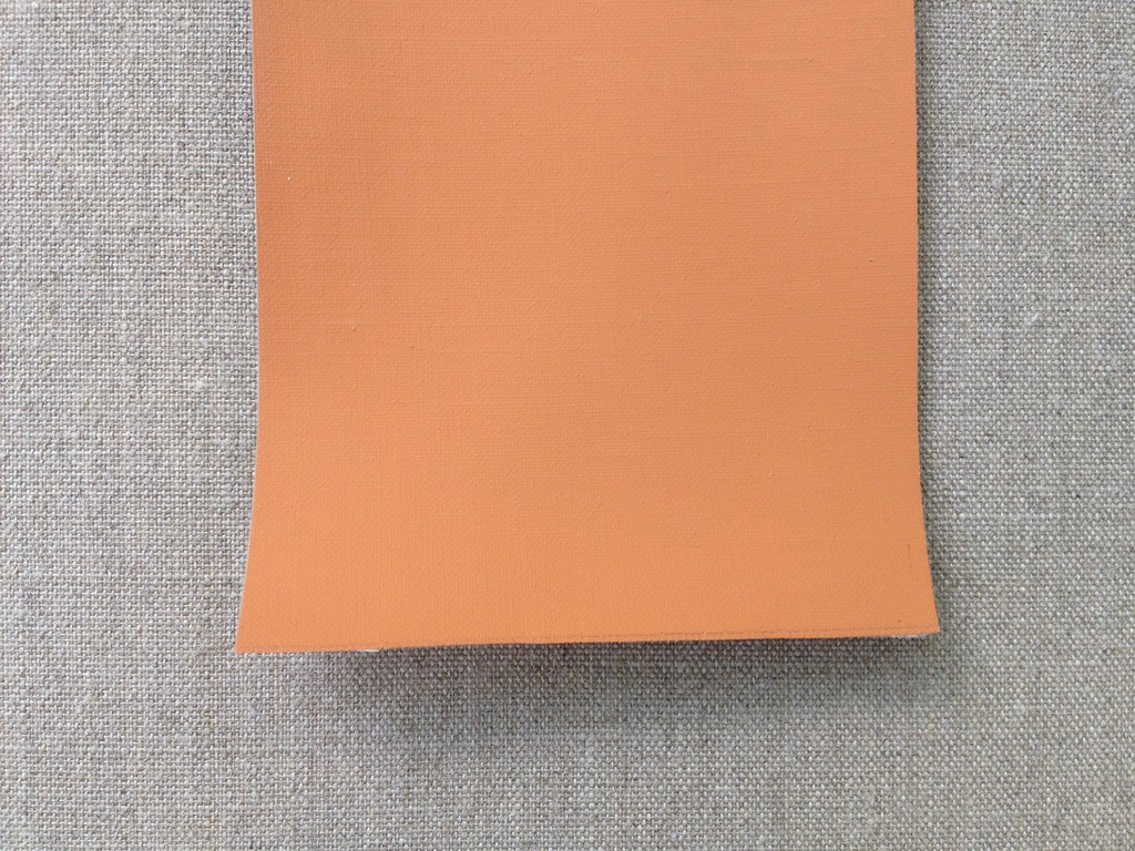 116 Linen fine, orange, four layers, acrylic primed, 216 cm