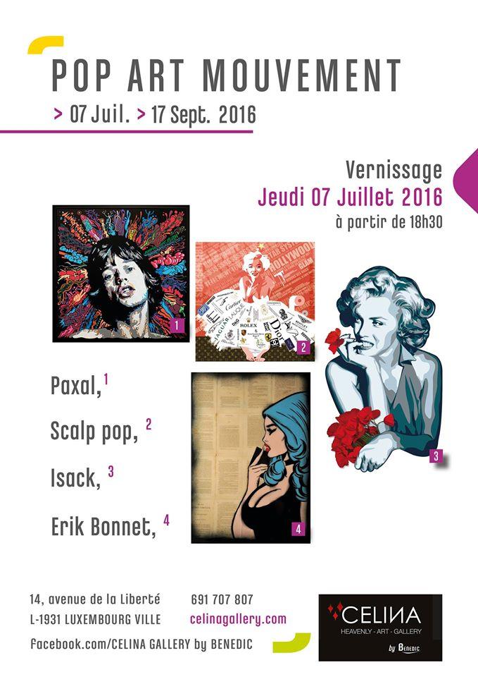 "affiche ""pop art mouvement"" célina gallery / luxembourg"